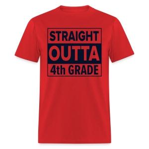 MENS Straight Outta 4th Grade BLACK GLITTER - Men's T-Shirt