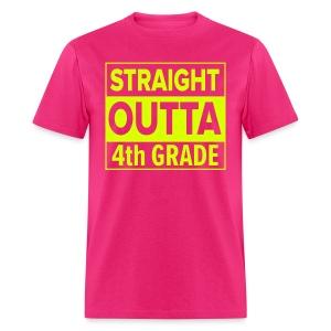 MENS Straight Outta 4th Grade NEON YELLOW - Men's T-Shirt