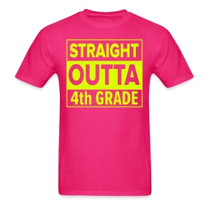 MENS Straight Outta 4th Grade NEON YELLOW - Men's T-Shirt
