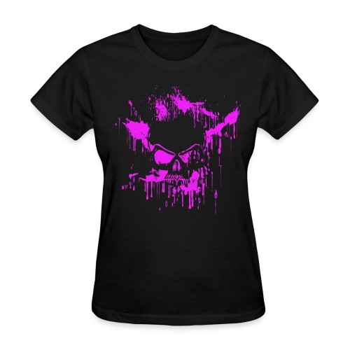 DF13 Girls Splash Skull (Pink) - Women's T-Shirt