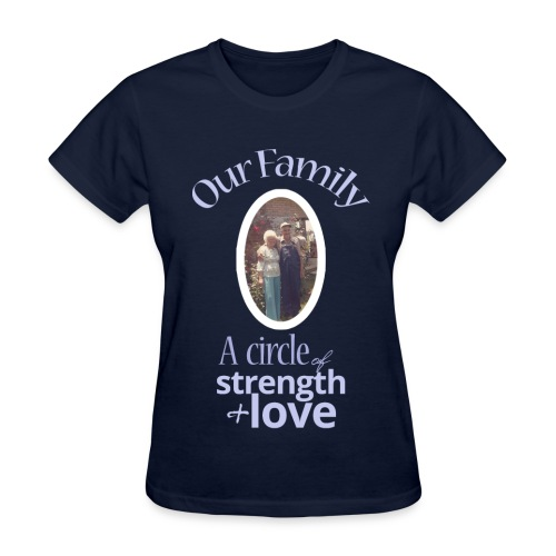Our Family - Navy - Women's T-Shirt