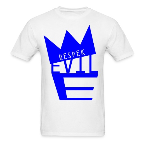 Evil E White - Men's T-Shirt