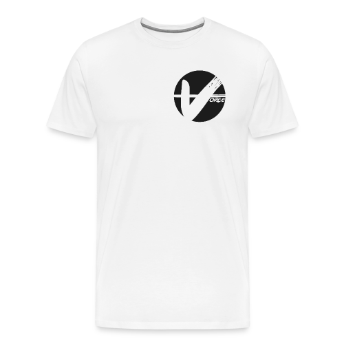 White Tee - Black Logo - Men's Premium T-Shirt