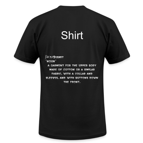 Definition of shirt on a shirt - Men's  Jersey T-Shirt