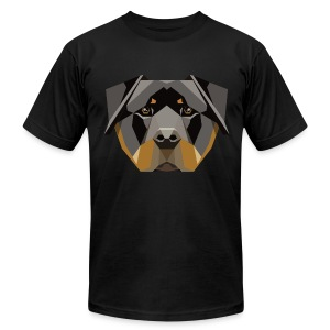 Geometric Rottweiler T-Shirt - Mens - Men's Fine Jersey T-Shirt