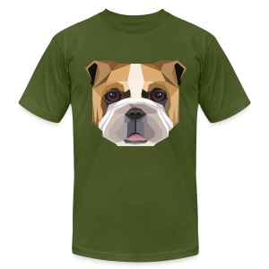 Geometric Bulldog T-Shirt - Mens - Men's Fine Jersey T-Shirt