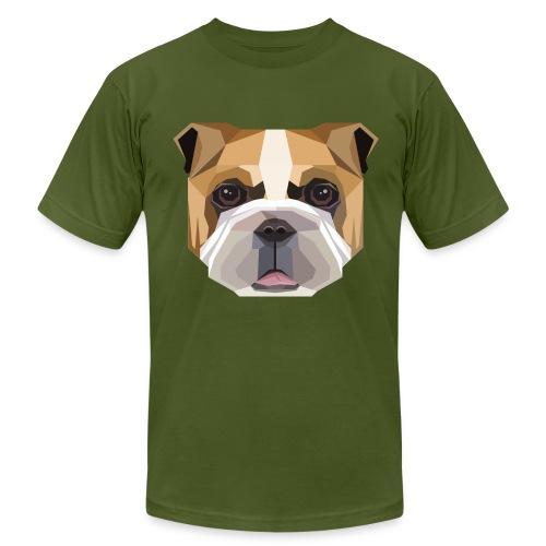 Geometric Bulldog T-Shirt - Mens - Men's Fine Jersey T-Shirt