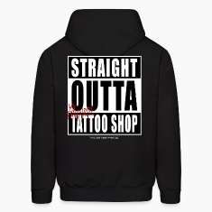 straightoutta tattoo shop Hoodies