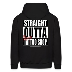 straightoutta tattoo shop - Men's Hoodie