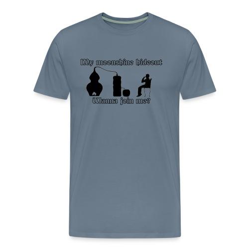 Moonshine hideout - Men's Premium T-Shirt