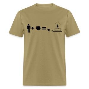 Man + Cat = New pyramid - Men's T-Shirt