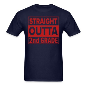 MENS Straight Outta 2nd Grade RED GLITTER - Men's T-Shirt