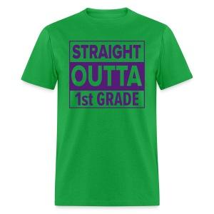 MENS Straight Outta 1st Grade PURPLE FLAT - Men's T-Shirt