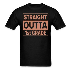 MENS Straight Outta 1st Grade PINK GLITTER - Men's T-Shirt