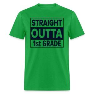 MENS Straight Outta 1st Grade BLACK GLITTER - Men's T-Shirt