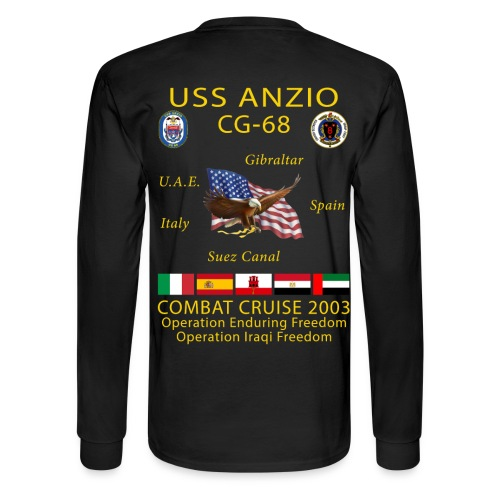 USS ANZIO CG-68 2003 CRUISE SHIRT-LONG SLEEVE - Men's Long Sleeve T-Shirt