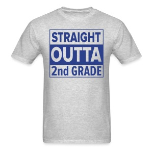 MENS Straight Outta 2nd Grade ROYAL BLUE FLAT - Men's T-Shirt