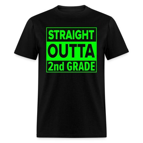 MENS Straight Outta 2nd Grade GREEN NEON - Men's T-Shirt