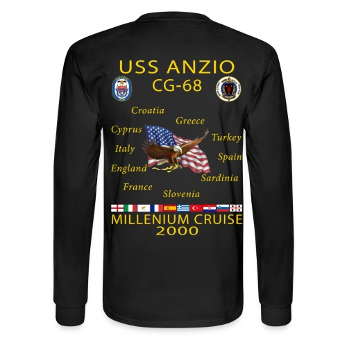 USS ANZIO CG-68 2000 CRUISE SHIRT-LONG SLEEVE - Men's Long Sleeve T-Shirt