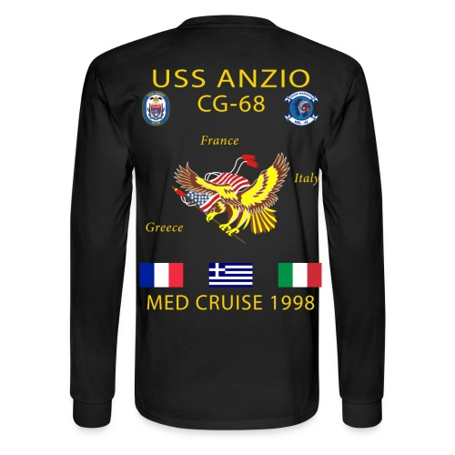 USS ANZIO CG-68 1998 CRUISE SHIRT - LONG SLEEVE - Men's Long Sleeve T-Shirt