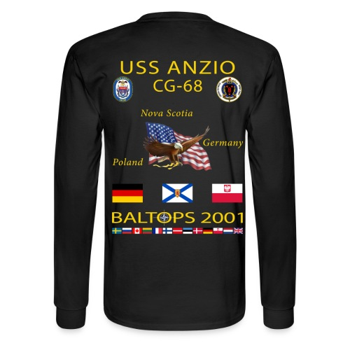 USS ANZIO CG-68 2001 CRUISE SHIRT-LONG SLEEVE - Men's Long Sleeve T-Shirt