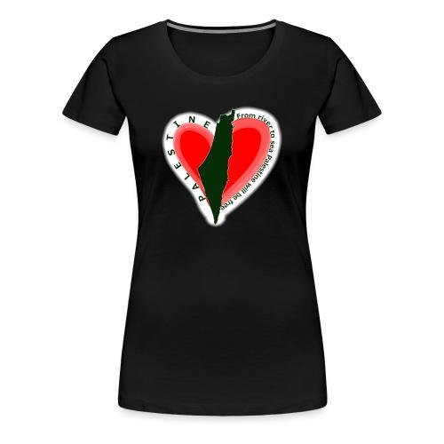 Palestine women support tee - Women's Premium T-Shirt