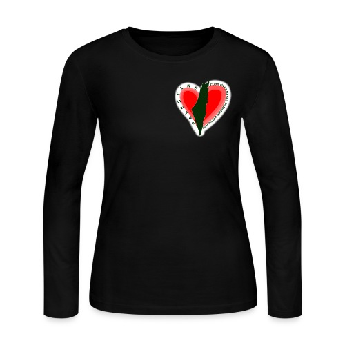 Palestine support women long sleeved - Women's Long Sleeve Jersey T-Shirt