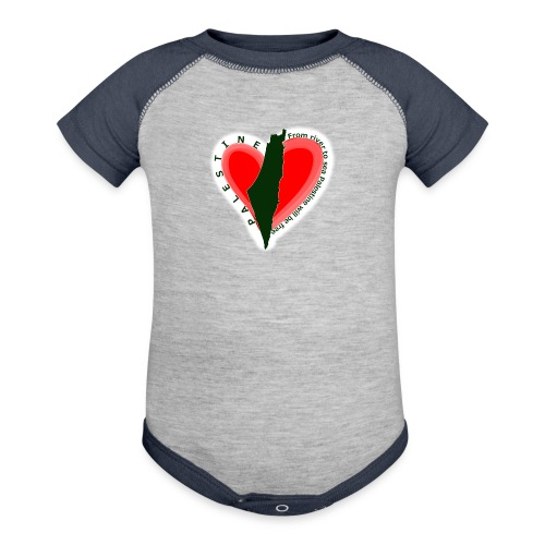 Palestine support Kids support tee - Contrast Baby Bodysuit