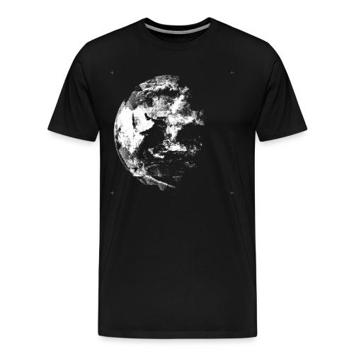 Blue Marble (East, Mono, Graphic) - Men's Premium T-Shirt