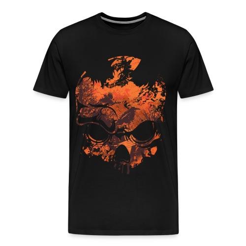 OPTICAL ILLUSION - SKULL & CROWS - Men's Premium T-Shirt