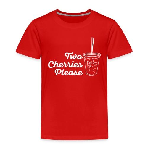 Toddler's Two Cherries Please Premium T-shirt -- Multiple Colors - Toddler Premium T-Shirt