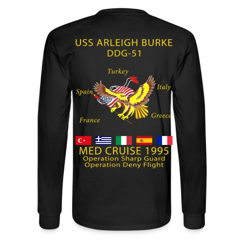 USS ARLEIGH BURKE 1995 CRUISE SHIRT - LONG SLEEVE - Men's Long Sleeve T-Shirt