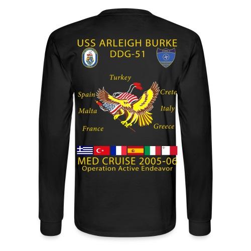 USS ARLEIGH BURKE 2005-06 CRUISE SHIRT - LONG SLEEVE - Men's Long Sleeve T-Shirt