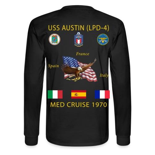 USS AUSTIN 1970 CRUISE SHIRT - LONG SLEEVE - Men's Long Sleeve T-Shirt