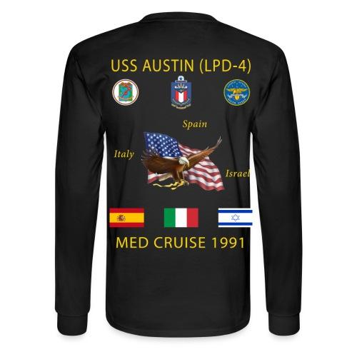 USS AUSTIN 1991 CRUISE SHIRT - LONG SLEEVE - Men's Long Sleeve T-Shirt