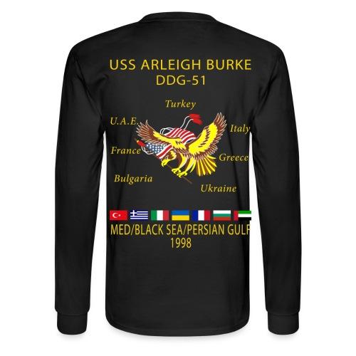 USS ARLEIGH BURKE 1998 CRUISE SHIRT - LONG SLEEVE - Men's Long Sleeve T-Shirt