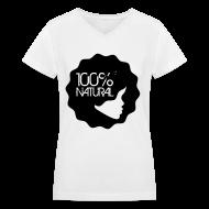 T-Shirts ~ Women's V-Neck T-Shirt ~ 100% Natural Afro T-Shirt Women'sV-Neck T-Shirt