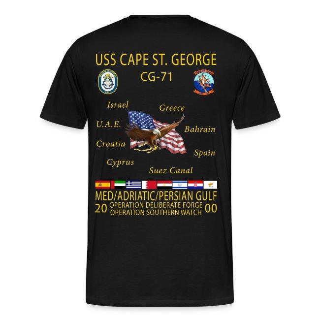 USS CAPE ST GEORGE 2000 CRUISE SHIRT