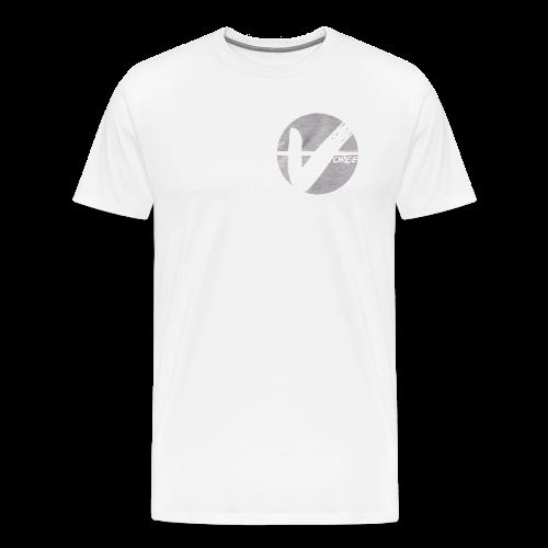 White Tee - Grey Logo - Men's Premium T-Shirt