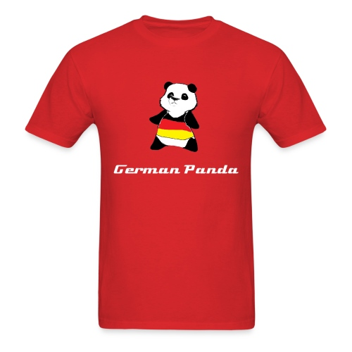 German Panda Let's Play T-Shirt-Black - Men's T-Shirt
