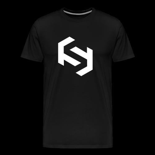 Men's T-Shirt (White Design) - Men's Premium T-Shirt