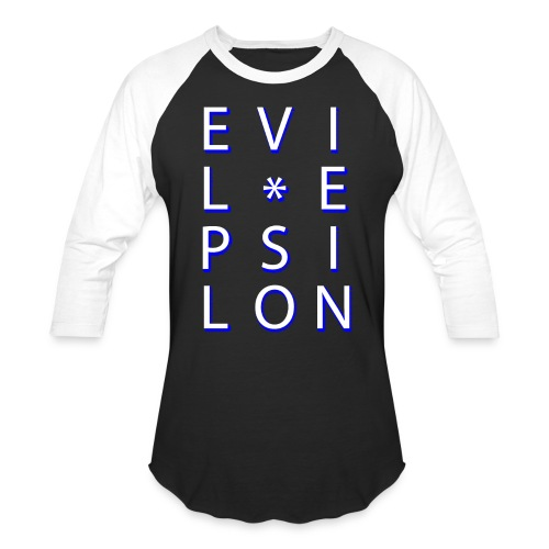 Evil Epsilon Baseball Tee - White - Baseball T-Shirt
