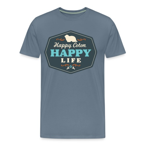 Happy Coton, Happy Life - Men's Premium T-Shirt