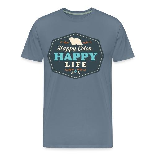 Happy Coton, Happy Life - Men's Premium T-Shirt