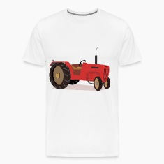 cartoon red tractor