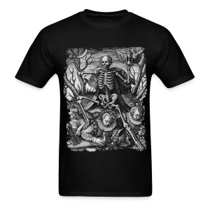 DEATH AND ROYAL TWINS B&W - Men's T-Shirt