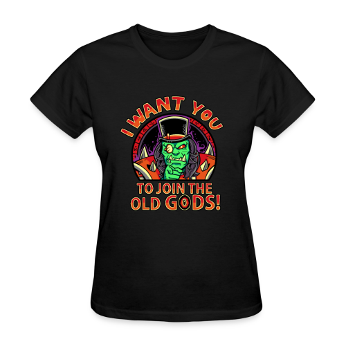 I Want You To Join The Old Gods Female Shirt (Red) - Women's T-Shirt