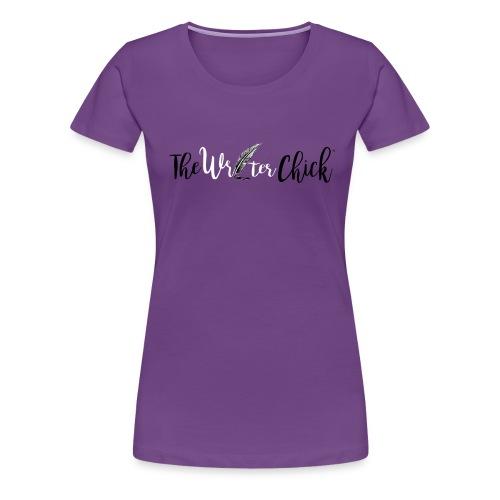 The Writer Chick-Purple - Women's Premium T-Shirt