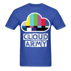 Simple Cloud Army [BLUE]  - Men's T-Shirt