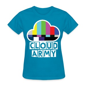 Simple Cloud Army [LIGHT-BLUE]  - Women's T-Shirt